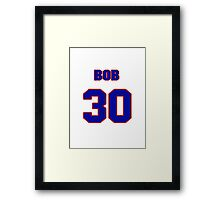 National baseball player Bob Lillis jersey 30 Framed Print
