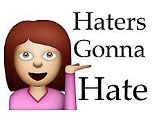 Haters Gonna Hate Emoji Photographic Print
