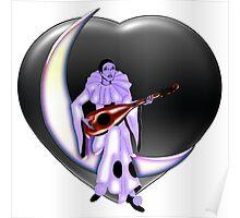 Valentine's Day Pierrot Moon Heart Poster