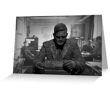 Turing Sculpture Greeting Card