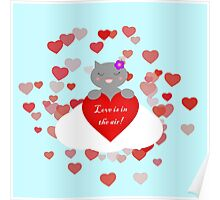 Kittens - Love is in the air!  Poster