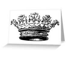 Vintage Crown Greeting Card