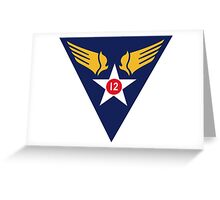 12th Air Force  WWII  USAAF Greeting Card