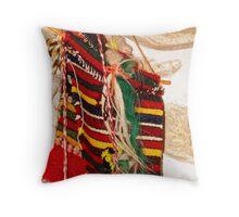 Traditional Bulgarian Knitting Throw Pillow