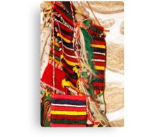Traditional Bulgarian Knitting Canvas Print