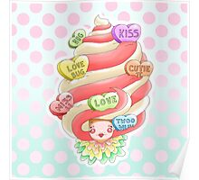 Doll faced dearies, Valentina valentines hearts ice cream swirl Poster