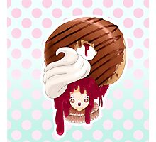 Doll faced dearies, Jemma Jelly filled chocolate donut Photographic Print