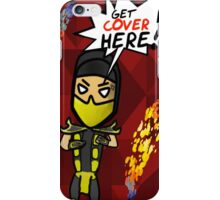 Get Cover Here! - MORTAL KOMBAT (Scorpion cover) iPhone Case/Skin