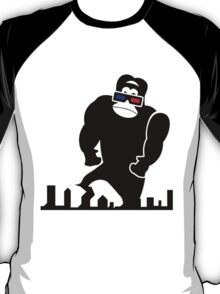3D GORILLA RAMPAGE GEEK LIKES TO TRASH THIS CITY T-Shirt