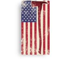 American Fire Service (white) Canvas Print