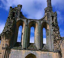 Empty Windows - Byland Abbey by Trevor Kersley