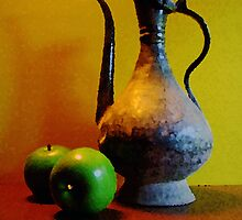 Indian Metal with Green Apples by suzannem73