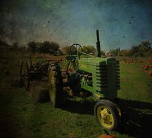 Yesteryear Antique John Deere Tractor on The Farm by Adri Turner