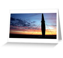 Danish sunset Greeting Card