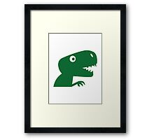Comic dinosaur Framed Print