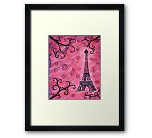 Eiffel Tower in Pink Framed Print