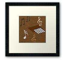 Music In  The Sand  Framed Print