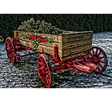Yuletide Wagon Photographic Print