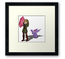 Link and Mega Sableye Framed Print