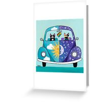 Sunny & Luna Go For A Drive Greeting Card