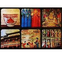 Six Scenes Oriental Photographic Print