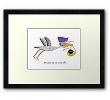 Stork Framed Print