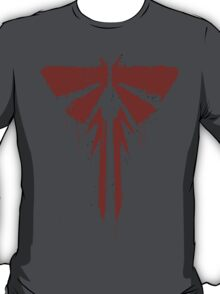 The Last Of Us: Red Painted FireFlies Logo T-Shirt