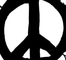 Hippie Peace Sign Mandala Sticker