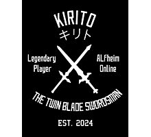 ALO Twin Blade Swordsman (White) Photographic Print