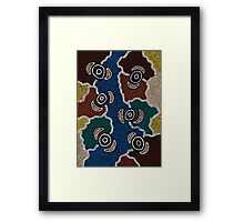 Aboriginal Art Authentic - Riverside Dreaming Framed Print