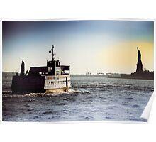 Liberty Island Ferry Poster