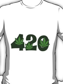 420 Pot Leafs T-Shirt