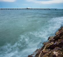 Shorncliffe Pier at High Tide by Silken Photography
