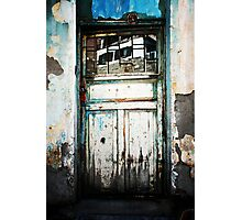 Door And Reflection In Flaking Paint Photographic Print