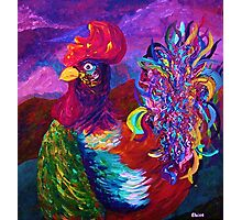 Rooster on the Horizon Photographic Print