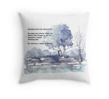 Affirmation for CREATIVITY Throw Pillow