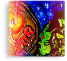 pikachu and charmander starry night sky  Canvas Print