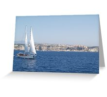 Sailing in the Straits Greeting Card