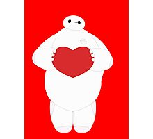 Baymax with Heart Photographic Print