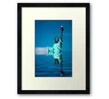 Lady Liberty Warming Framed Print