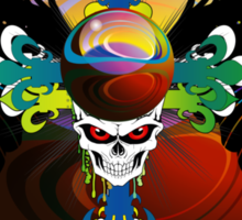 COLORFUL SKULL WITH WINGS - Marbles Sticker