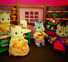 Sylvanian Families ~ Cats at the Bakery by Forever Feline
