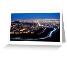 San Francisco Cityscape at Night Greeting Card
