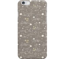 cosmos and stars. sepia iPhone Case/Skin