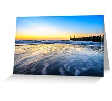 In the sea waves at Domburg beach, Holland Greeting Card