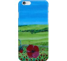 Red Inspiring Poppies - I Saw Some Across Countryside iPhone Case/Skin