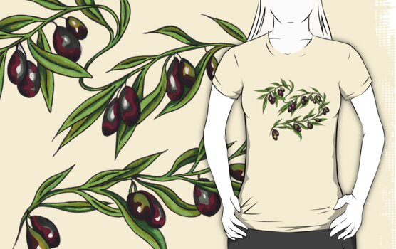 Olive Branch t-shirt by Angelique Moselle Price
