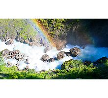 Wild River Rainbow in Austria Photographic Print