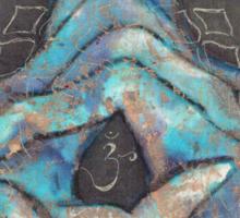 crown chakra mudra  Sticker