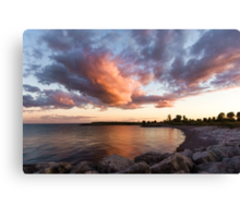 Colorful Summer Sunset - Lake Ontario Impressions Canvas Print